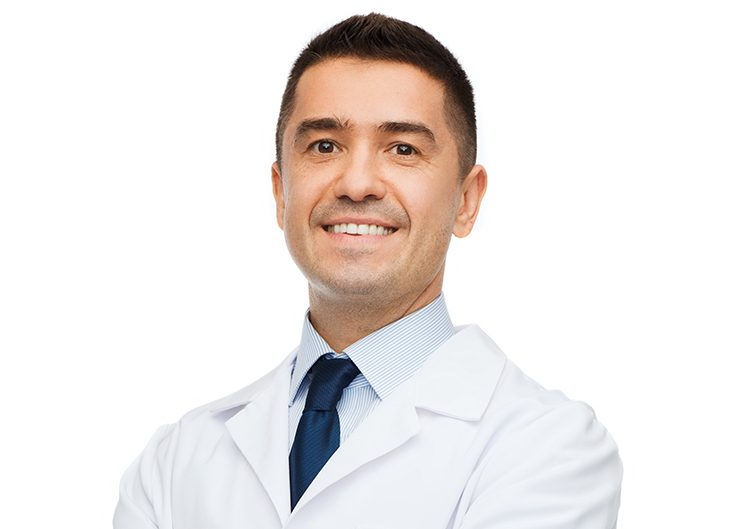 Professional head shot of a male doctor.